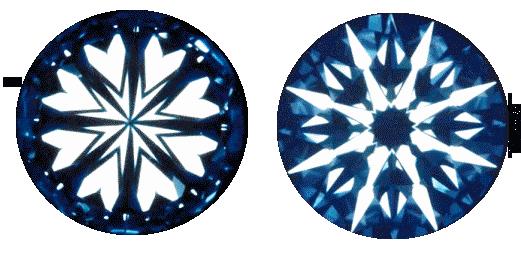 Bissacco Gioielli - Effetto visivo raggiunto da un diamante con taglio super ideal